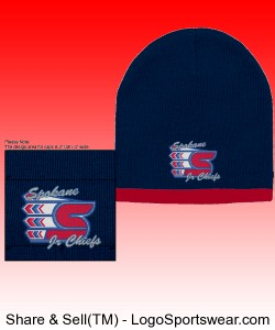 Navy/Red Beanie Design Zoom