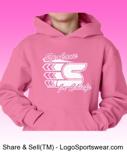 Youth Pink Hooded Sweatshirt Design Zoom