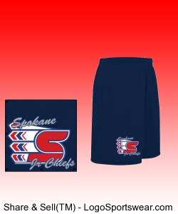 Youth Navy Shorts Design Zoom